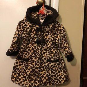 Leopard print girls coat!